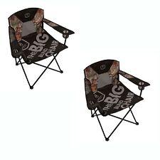 Barronett Blinds Big Blind Black & Camo Large Heavy Duty Folding Chair (2 Pack)