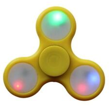 Yellow Fidget Hand Spinner with Colored LED