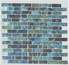 "Vinyl Decorative Wall Tile Peel and Stick Self-Adhesive Mosaic DIY 10""x10"" NEW"