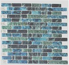 "Vinyl Decorative Wall Tile Peel and Stick Self-Adhesive Mosaic DIY 10""x10"" NEW"