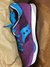 Saucony Original DXN Trainer -Retro style - New in box, wms size 8, purple/turq