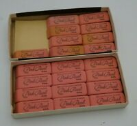 Open Box Vtg Eraser Pencil Eberhard Faber Pink Pearl 100 Double Bevel Box of 21