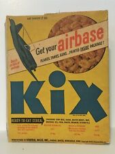 """1945 Wwii """"Kix Air Base"""" Cereal Box - Cut-Out Military Models - Premium Offer"""