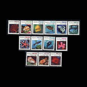 PALAU, Sc #9-21, MNH, 1983, Marine life, turtle, sea fan, jellyfish, DDD-A