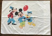 Vtg Walt Disney Productions Wamsutta Pillowcase Mickey Mouse Donald Duck Pluto