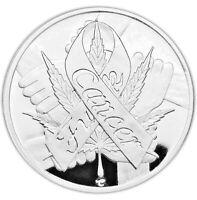 It's Always 420 F*K Cancer Marijuana Clock 1 oz .999 Silver Coin 1,000 Minted