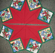 Christmas Santa fabric tree skirt panels and stockings precut pieces
