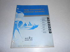 1974 2 hp Genuine Evinrude Johnson Outboard Repair & Service Manual 2hp