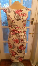 Lovely Oasis PInk Floral Pencil Dress Size 10