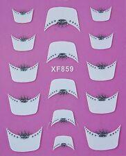 Accessoire ongles : nail art- Stickers autocollants : couronnes grises