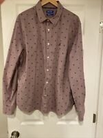 Nautica Flex Blue Sail L/S Button Down Shirt Men Size  XL Wrinkle Resist Magenta