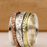 925 Sterling Silver Spinner Ring Meditation Ring Statement Ring Jewelry ss866