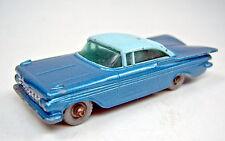 Matchbox 1-75 RW 57b Chevrolet Impala rara fondos azules la placa base