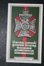 King's Royal Rifle Corps 1914/18  World War 1  Battle Honours  Card  ## VGC