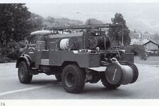 74 SALLANCHES CAMION POMPIER MERCEDES 1513 CCF IMAGE 1987 FIRE TRUCK PRINT
