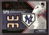 MICKEY MANTLE SPX GAME USED PINSTRIPE JERSEY CARD #133/175 NY YANKEE HOMEPLATES