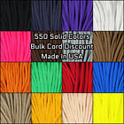 Paracord Planet 550 Paracord Solid Colors - 10-25-50-100 Ft Options - USA Made