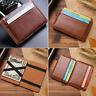 Men's Faux Leather Magic Money Clip Slim Wallet ID Credit Card Holder Case Purse