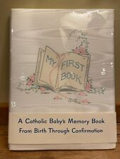 Vintage 1960 Gibson A Catholic Baby's Memory Book Baby Book Unused w/Box