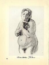 Käthe Kollwitz Werke: Nackte Frau und Heimarbeit- Plakat Historische Grafik 1930