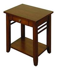 Solid Hardwood End Table / Lamp Table 1 Drawer - Living Room Furniture