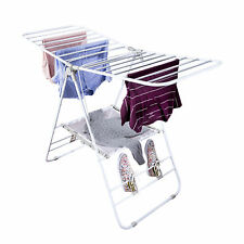 Folding Laundry Dryer Rack Stand Indoor Clothes Line Drying Hanger Washing Dorm