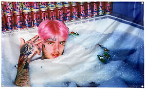 Lil Peep Bathtub Pink Hair Flag 3x5ft Banner Tapestry