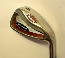 WILSON DEEP RED 8 Iron True Temper Steel Shaft