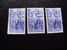 NORVEGE - timbre yvert et tellier n° 730 x3 obl (A30) stamp norway