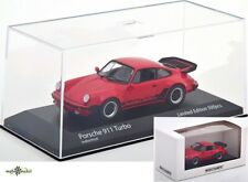 Porsche 911 930 Turbo indischrot mit Schriftzug 1:43 Minichamps