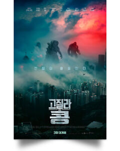 Godzilla vs King Kong Art Print Decor Home Poster Full Size