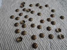 Antique Bronze 8mm Bead Caps ~ Pack 100