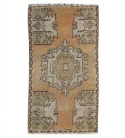 2x3 Oriental Handmade Vintage Traditional Tribal Wool Small Turkish Area Rug