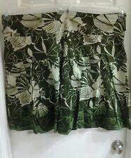 Mix Noveau Women's plus size 26W multi green colors, cotton lined skirt, NWT