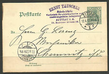 GERMANY. 1902. CARD. ERNST TAUSCHER - WORKSHOP FOR PHYICAL AND ELECTRO-MAGNETIC