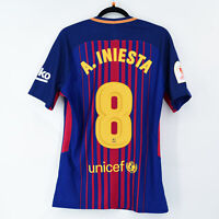 2017-18 Barcelona Player Issue Home Shirt #8 A. INIESTA Copa del Rey Match Un...