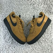 Nike Air Force 1 Low Mens Shoes UK 8 Eur 42.5 Mustard Yellow Leather Trainers