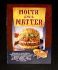2006 Red Robin Hamburger~Gourmet Burgers Fast Food Restaurant Memorabilia AD