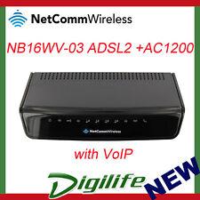Netcomm NB16WV-03 AC1200 WiFi Gigabit Router ADSL2+ Modem w/Voice USB 3G/4G