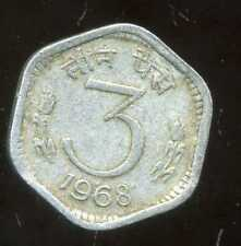 India 3 paise 1968