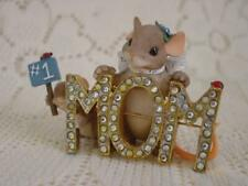 "Charming Tails Dean Griff ""#1 Mom"" Figurine"