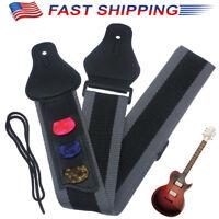1PCS Adjustable Guitar Strap Nylon Guitar W/Picks For Electric Acoustic Guitar