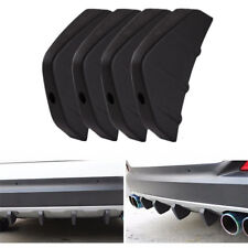 4 PCS Car Rear Bumper Decor Diffusers Anti-scratch Shark Fin Spoiler Universal