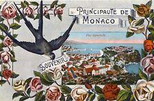 Souvenir de la Principauté de MONACO illustré Soldat écrit en 1916 à Vercia Jura