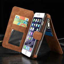 Leather Phone Case Wallet Card Purse For iPhone X XS Max XR 5 6 7 8 Samsung S9