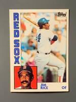 1984 Topps Tiffany #550 Jim Rice HOF Boston Red Sox