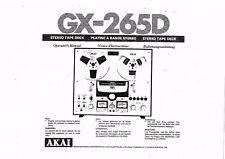 Akai  Bedienungsanleitung user manual owners manual  für GX- 265 D