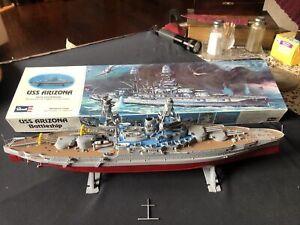 USS Arizona Battleship Revell Model Kit # H-302 Parts Built Original Box