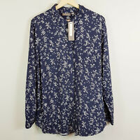 [ SUSSAN ] Womens Floral Print Blouse Top NEW + TAGS | Size AU 14 or US 10