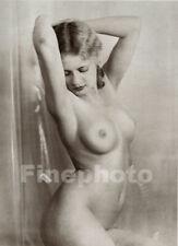 1936 Vintage Female Nude Woman BERTRAM PARK YVONNE GREGORY Photo Art Deco 11X14